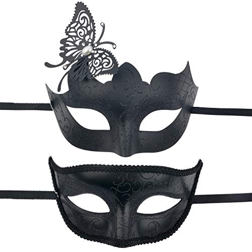 Halloween Costume Ideas For Masquerade Masks (BAWASEEHI Masquerade Mask for Couples Venetian Party Eye Mask Halloween Costume Mardi Gras)
