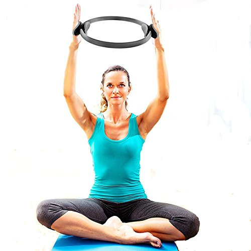 Pilates Ring Magic Circle / Exercise Ring for Women Resistance Toning / Body Exercise Workout by Baleauty (14 Inch Dual Grip)…