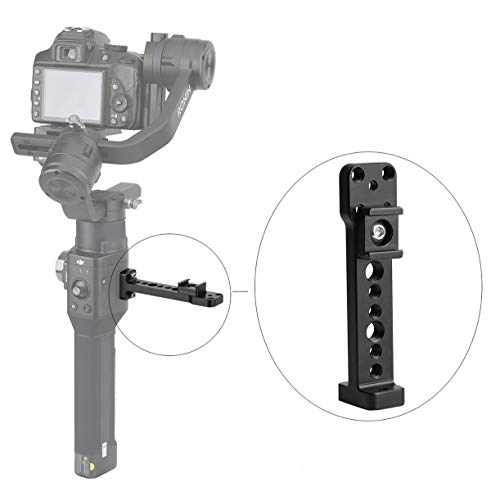 AFVO Side Bracket Accessory Holder Mount with Cold Shoe, 1/4 3/8 Screw Holes for DJI Ronin S 3Axis Gimbal Stabilizer