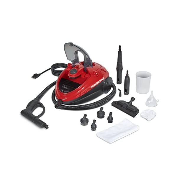 AutoRight C900054.M Red SteamMachine Multi Purpose Steam Cleaner, 11 Accessories Included