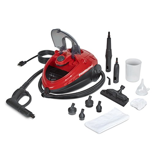 AutoRight SteamMachine C900054.M Red Multi-Purpose Steam Cleaner for Cleaning Vehicle's Upholstery, Windows, Leather, Chemical Free Car Care, 55 psi