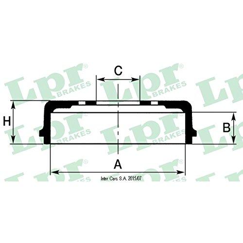 LPR 7d0647 tambor de freno LPR S.P.A.