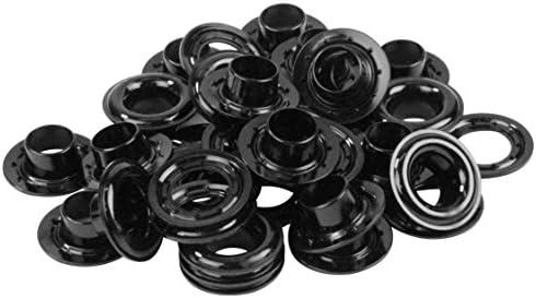 SK11 プラスチック 両面ハトメ玉 ハトメ穴径約9.5mm 黒 20組入 No.185B