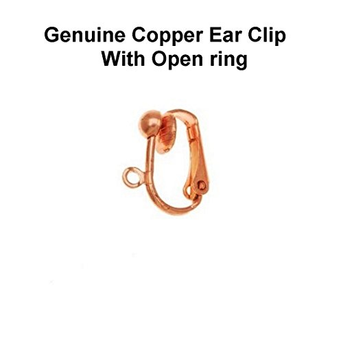 Genuine Copper Earring Clip With Open Ring/Pack Of 12