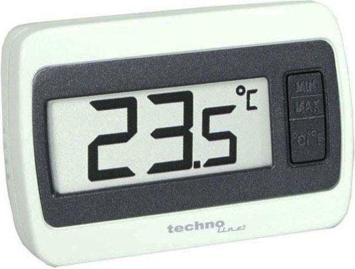 Technoline Thermometer WS 7002 MIN / MAX Temperaturanzeige, Weiß, 6,0 x 1,4 x 4,0 cm