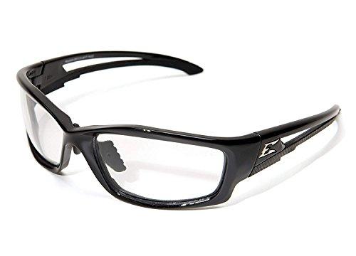 Black Vapor Clam - Kazbek - Black/Clear Vapor Shield Lens Multi-Fit - Clamshell (12 Packs)