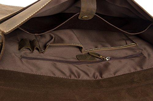 ROCKCOW - Bolso al hombro para hombre Marrón marrón oscuro