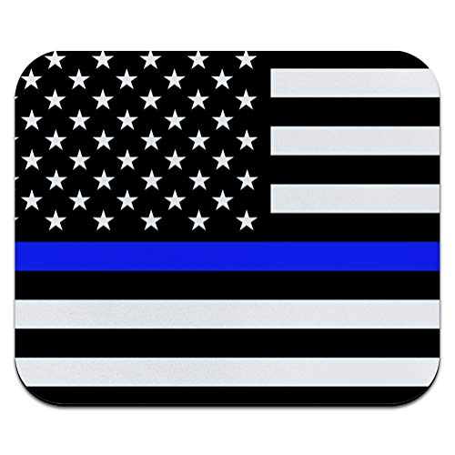 Thin Blue Line American Flag Low Profile Thin Mouse Pad Mousepad