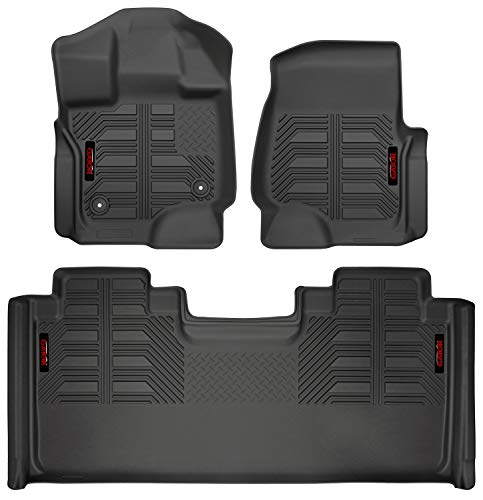 Gator 79610 Black Front and 2nd Seat Floor Liners Fits 15-19 Ford F-150 SuperCab