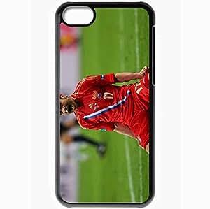 Personalized iPhone 5C Cell phone Case/Cover Skin Alan Dzagoev Footballer Russia Goal Joy Euro 2012 Black