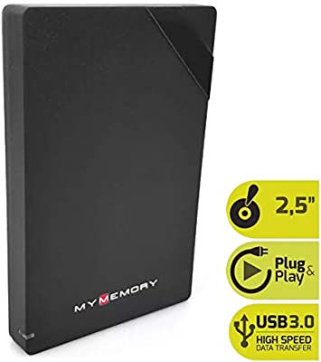 MyMemory - Disco duro externo portátil (500 GB, USB 3.0, 2,5