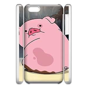 cute funny piggy iphone 5c Cell Phone Case 3D Tribute gift pxr006-3913527