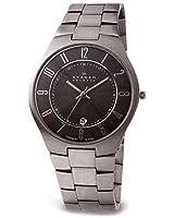 Skagen Titanium & Charcoal Dial Watch