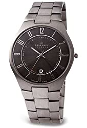 Skagen Titanium & Charcoal Dial Watch