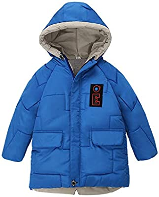 Kids Child Boys Girls Thicken Warm Winter Hooded Coat Cloak Jacket Outerwear AE