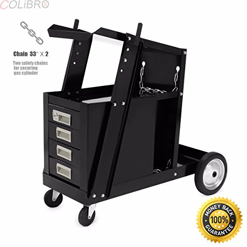 COLIBROX--Universal Welding Cart w 4 Drawer Cabinet MIG TIG ARC Plasma Cutter Tank Storage. 4 drawer welder cart gives you a place to store all of your welding accessories. by COLIBROX