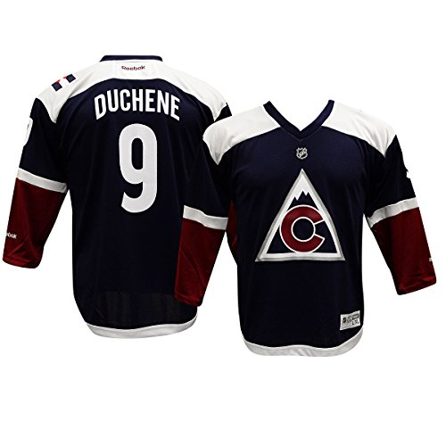 09 Replica Jersey (NHL Colorado Avalanche Duchene M # 09 Boys 8-20 Third/Alternate Color Replica Jersey, Large/X-Large, Blue)