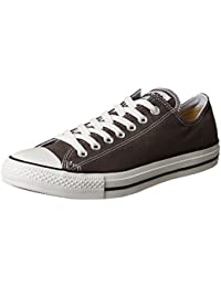 Chuck Taylor All Star Lo Top Charcoal Canvas Shoes with...