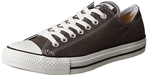 (Converse Unisex Chuck Taylor All Star Ox Low Top Classic Charcoal Sneakers - 10.5 D(M) US)