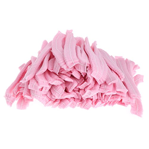 (Cugap 100pcs Microblading Accesories Makeup Hair Net Caps For Eyebrow Tattooing,Disposable Bouffant (Hair Net) Caps, Non-woven fabrics, Hair Head Cover Net, Medical, Labs, Nurse (Pink))