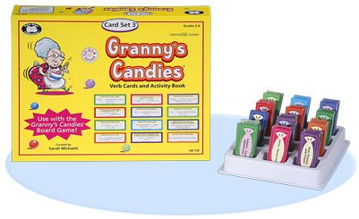 Super Duper Publications Granny's Candies Vocabulary & Word Meaning Game Verb Cards (Add-On Set 3) Educational Learning Resource for Children