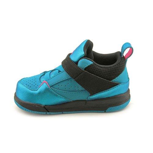 Nike Jordan Flight 45 Hi TD Toddler Girls Size 8 Blue Leather Basketball Shoes