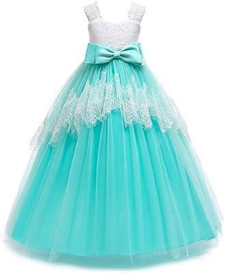 Vestido de las muchachas de la boda formal de la d Falda larga ...