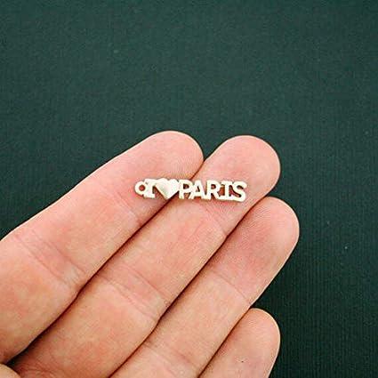 GC960 4 Paris Charms Gold Tone I Love Paris