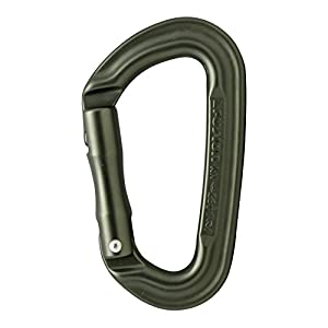 Fusion Climb Contigua II Military Color Edition Grooved Straight Gate Carabineer Ranger, Green