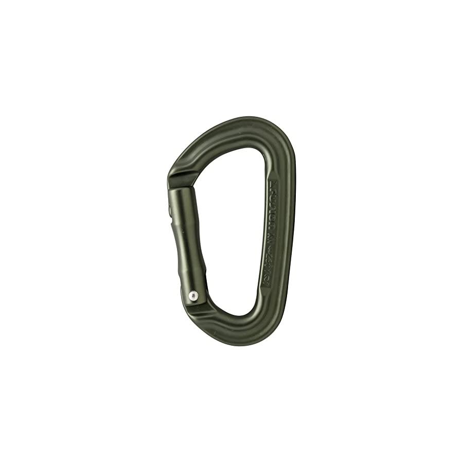 Fusion Climb Contigua II Military Color Edition Grooved Straight Gate Key Nose Carabiner Ranger Green