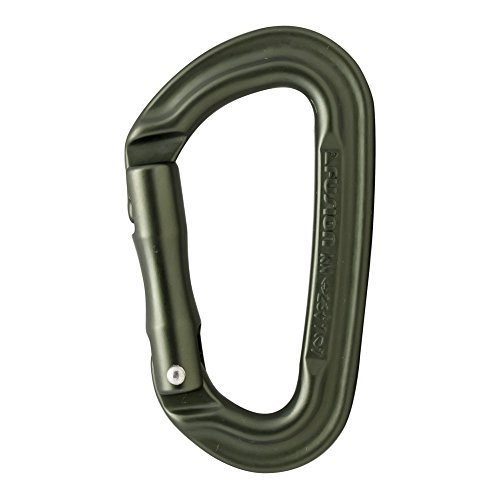 Fusion Climb Contigua II Military Color Edition Grooved Straight Gate Key Nose Carabiner Ranger Green by Fusion Climb