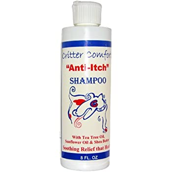 All Natural Dog Shampoo for Dry, Itchy & Sensitive Skin by Critter Concepts|Most Effective, Allergy Relief Formula with Tea-Tree Oil & Vitamins|Soothe Hot Spots, Moisturize and Combat Skin Irritation
