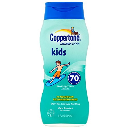 Coppertone Kids Sunscreen Lotion SPF 70 8 oz Pack of 2