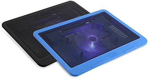 Rehomy Enfriador de La Computadora Portátil Base de La Almohadilla de Enfriamiento Gran Ventilador USB Soporte para Debajo de 14 Notebook Negro: Amazon.es: Electrónica