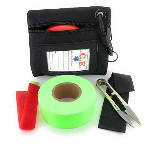 - VAS HIGH Visibility Rainbow Trail Marking & Flagging Ribbon DLX Tape Trail Pack- Outdoor, Commercial & Industrial Use Organizer Utility Bag Scissors & Case Retention Strap (NEON Green, 2 Pack)