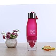 UltimaFio(TM) 700ML Sports Water Bottle Portable Lemon Bottle For Water H2O Fruit Juice Infuser Water Bottle Outdoor Sports [Red]