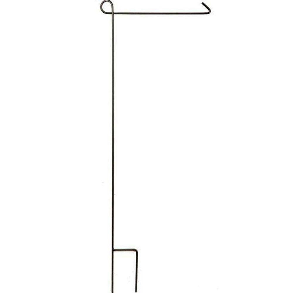Black 44 in. heavy duty Steel Garden Flag Stand