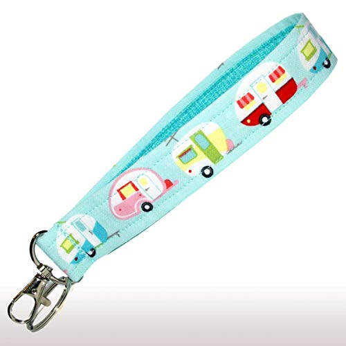 Camper Keychain Key Fob Strap made our CampingForFoodies hand-selected list of 100+ Camping Stocking Stuffers For RV And Tent Campers!