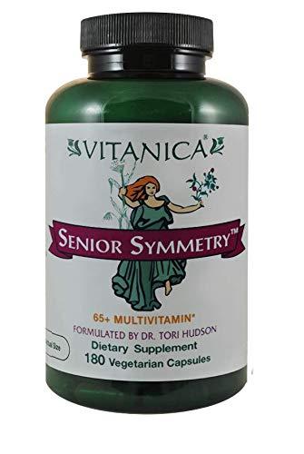 Vitanica, Senior Symmetry, 65 Years and Up Multivitamins and Minerals, Vegan, 180 Capsules