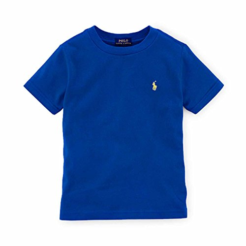 Polo Ralph Lauren Baby Boy's Short Sleeve Crewneck Tee (Barclay Blue, 24 - Months Ralph Lauren 24