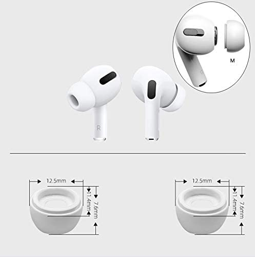 LED Visible AirPods Pro Case 4 in 1 Accessories Kit Protective Cover Case Ear Hook+Ear Tips+Clips Silicone Accessory for Apple Airpod Pro 2020 Black
