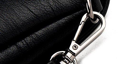 Mode AllhqFashion FBUFBD180926 Décontractée Orné Pochette à bandoulière Pu Cuir Sacs Femme Noir EEwRxCqSA