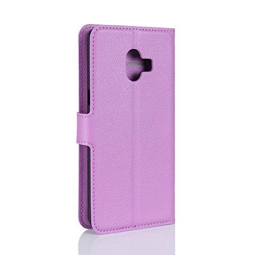 Funda Samsung Galaxy C10,Manyip Caja del teléfono del cuero,Protector de Pantalla de Slim Case Estilo Billetera con Ranuras para Tarjetas, Soporte Plegable,Cierre Magnético(JFC9-3) H