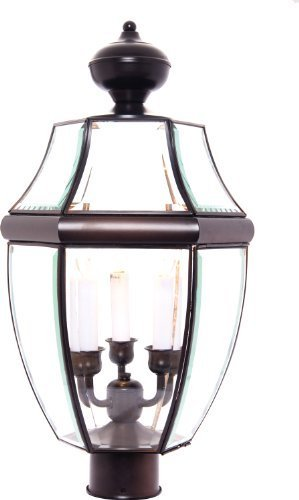 Maxim Lighting 6098 South Park Outdoor Pole/Post Mount Lantern, Burnished Finish, 12 by 23.5-Inch by Lighting Zoo--DROPSHIP
