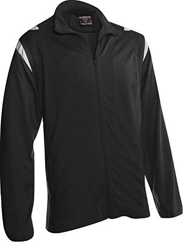 Youth Warm Up Jacket (Vizari Cambria Jacket, Black, Adult Large)