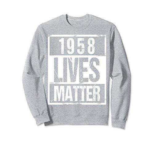 Unisex 1958 Lives Matter T-Shirt - Funny 60th Birthday Gift Shirt Small Heather Grey