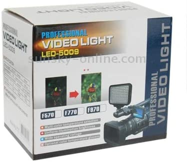 MOBILEACCESSORIES for TL LED-5009 120 LED Video Light with Soft Sheets /& a Yellow Filters and 7.4V 4400mAh //750 li-ion Battery for Sony NP-F770 Camera//Video Camcorder Photography Lights