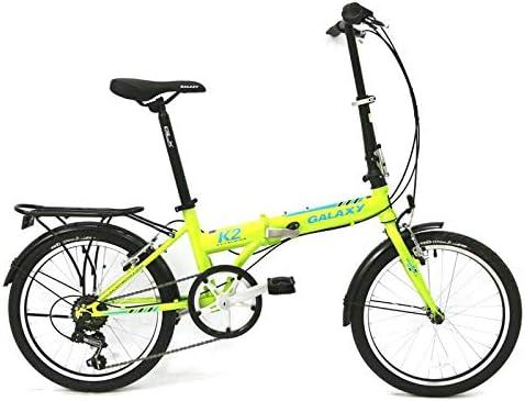 SYLTL Bicicleta Plegable Urbana 20in Unisex Adulto Confort Bicicleta Plegable Acero con Alto Contenido de Carbono Portátil Folding Bike,Verde: Amazon.es: Hogar