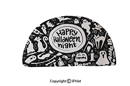 LEFEDZYLJHGO Carpets Floor Mat Cover Floor Rug Indoor Area Rugs,Washable,30x18 inch,Cute Happy Halloween Night Background Hand Drawn style5