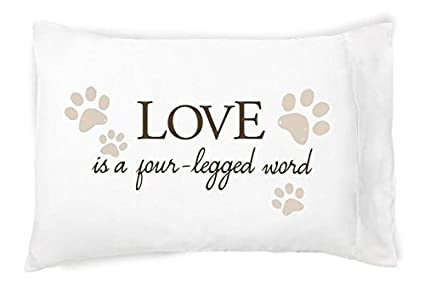 Faceplant Pillowcases Unique Amazon Faceplant Love Is A Four Legged Word Queen Standard